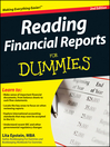 Reading Financial Reports For Dummies (eBook)